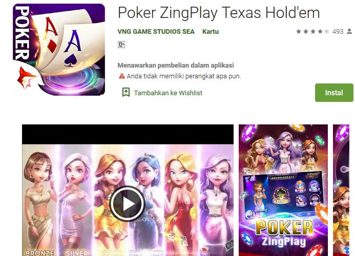 ZingPlay Poker Texas Holdem Game Apk Terbaru